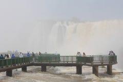 Bridge below the Iguazu Waterfalls Royalty Free Stock Photos