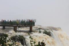 The bridge below the Iguazu Waterfalls Royalty Free Stock Photos