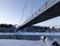 Bridge from beneath Royalty Free Stock Photos