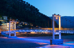 Bridge in berat, Albania. During the blue hour Stock Photo