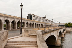 The bridge of Bercy. With the Ministry of Finance in the background, Saturday July 9, 2011 Royalty Free Stock Images