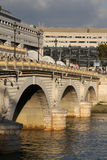 Bridge of Bercy. Over the Seine River in Paris at sunset Royalty Free Stock Photography