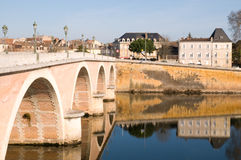 Bridge at Bergerac in France Royalty Free Stock Photos