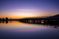 Bridge at Bermagui, New South, Wales, Australia. Bridge crossing the river at Bermagui, New South, Wales, Australia Stock Image