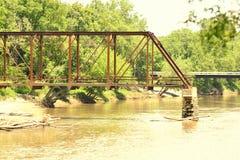 Bridge Bernadotte Illinois. Bridge in  Bernadotte Illinois along the Spoony Stock Image