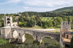 Bridge of Besalu Royalty Free Stock Photo