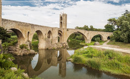 Bridge of Besalu Stock Image