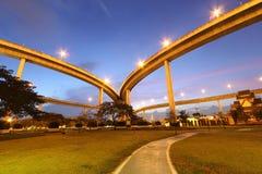 Bridge. Bhumibol Bridge over the Chao Phraya river in Bangkok, Thailand Stock Photo