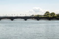 Bridge in Biarritz Stock Photography