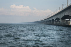 Bridge Big Belt. Denmark Fyn Royalty Free Stock Image