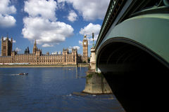 Bridge with Big Ben in London, Uk Royalty Free Stock Image