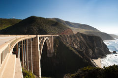 Bridge in the Big Sur Royalty Free Stock Photography