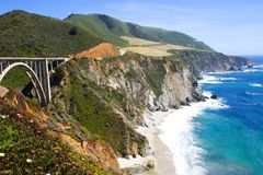 Bridge in Big Sur, California royalty free stock image