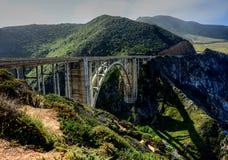 Bridge Big Sur California Hwy 1 Stock Photos