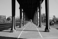 Bridge Bir-Hakeim known from the film `Last tango in Paris` Royalty Free Stock Photo