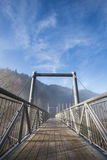 Bridge in black forest, Germany. Metal and wooden bridge in black forest, Germany Stock Photos