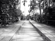 Bridge. Black and white bridge Royalty Free Stock Image