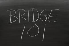 Bridge 101 On A Blackboard Stock Photography
