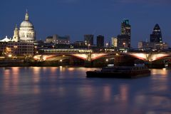 Bridge Blackfriars and St.Paul Royalty Free Stock Images