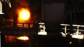 The bridge in the blast furnace shop stock video footage