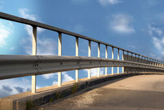 Bridge on blue bright sky Stock Images
