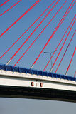Bridge on blue sky Royalty Free Stock Photography