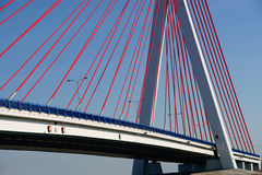 Bridge on blue sky Stock Photos