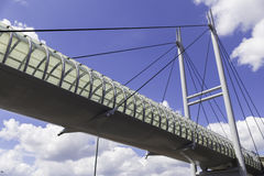 Bridge. With blue sky on the background royalty free stock photos
