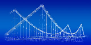 Bridge blueprint Stock Photo