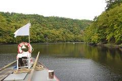 The bridge of the boat Stock Photo