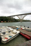 Bridge and Boats Stock Image
