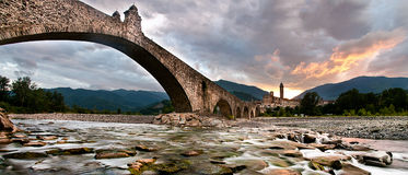 Bridge of Bobbio Stock Photography