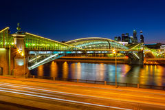 Bridge Bogdan Hmelnitsky in Moscow Royalty Free Stock Photography