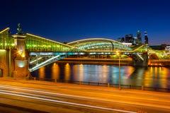 Bridge Bogdan Hmelnitsky in Moscow Royalty Free Stock Photography