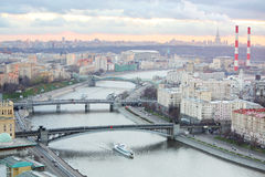 Bridge of Bogdan Khmelnitsky, Borodinsky bridge, Smolensky Bridge Stock Photography
