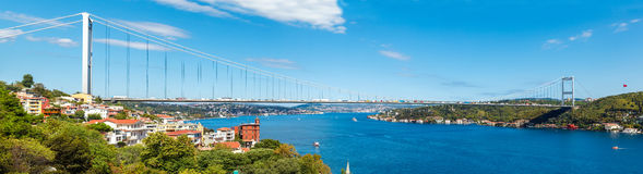 The bridge on Bosphorus Stock Photos