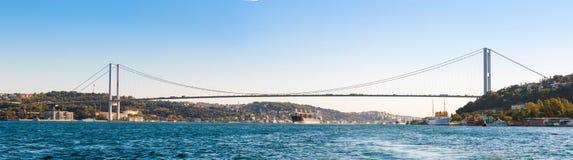 The bridge on Bosphorus (panorama) Stock Image