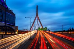 Bridge in Boston city stock photography