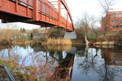 The bridge. In Brandenburg an der Havel über dem Wasser Royalty Free Stock Photo