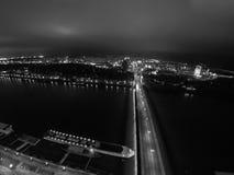 Bridge in Bratislava Stock Images