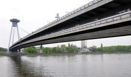 Bridge in Bratislava, Slovakia, Europe Royalty Free Stock Images