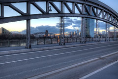 Bridge through a Bridge Stock Photos