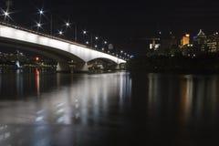 Bridge into brisbane. Bridge crossing brisbane river from city Royalty Free Stock Photo