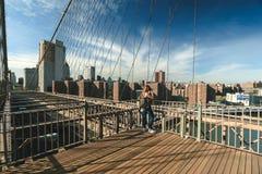 bridge brooklyn city new york Στοκ Φωτογραφίες