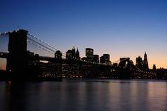 bridge brooklyn dusk Στοκ φωτογραφία με δικαίωμα ελεύθερης χρήσης