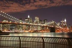 bridge brooklyn manhattan skyline στοκ φωτογραφία με δικαίωμα ελεύθερης χρήσης