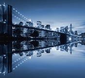 bridge brooklyn night Στοκ Φωτογραφίες