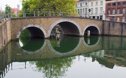 The bridge in Bruges Stock Photography