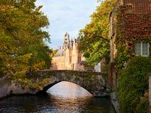 Bridge in Bruges, Belgium Stock Photos