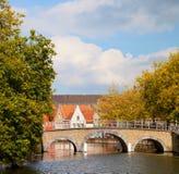 Bridge in Bruges, Belgium Royalty Free Stock Photography